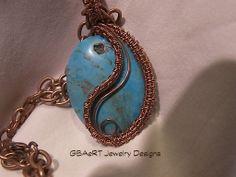 Magnasite and Copper Pendant
