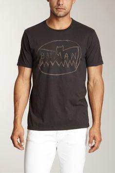 Chalk Batman logo shirt