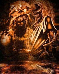 Eddie Heavy Metal Art, Metal Fan, Heavy Metal Bands, Iron Maiden Cover, Iron Maiden Mascot, Hard Rock, Musica Metal, Iron Maiden Posters, Eddie The Head