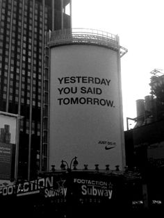 Love this Nike ad. Just do it Motivacional Quotes, Mood Quotes, Positive Quotes, Life Quotes, Family Quotes, Quotes Women, Relationship Quotes, Funny Quotes, The Words