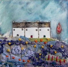 'Gardener row'  by Louise O'Hara of DrawntoStitch www.Drawntostitch.com