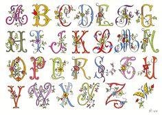 Alphabet     Muster/Pattern: www.needlenthread.com/ broderieantan.canalblog.com/