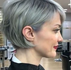Blonde Layered Hair, Short, Bo