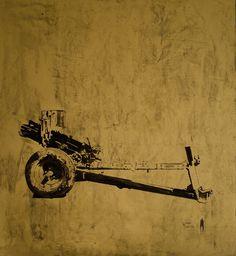 Ian Woodard_Silent Fields, 2014, olio su tela, 95x100cm