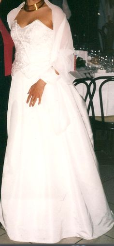 Robe de mariée Pronuptia d'occasion avec traine courte