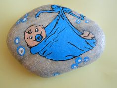 Stone painting baby...inspired