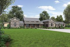 Plan 46041HC: Hill Country Home with Massive Porch