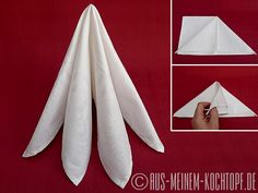 Folding napkins: from boiled beef to cutlery bag - from my saucepan - . Folding napkins: from boiled beef to cutlery bag – from my saucepan – Iris Folding, Napkin Folding, Napkin Origami, Boiled Beef, Dining Etiquette, Sewing Aprons, Baby Shower Winter, Wedding Decorations, Table Decorations