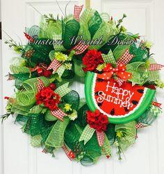 Beautiful Summer Watermelon Wreath