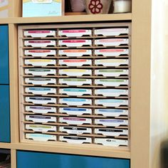 Crafters love IKEA® shelving, and our cabinets make them perfect!  Whether you have IKEA® Expedit or Kallax shelving, you know how great they are for storage and display.  We provide versions of several of our most popular products that make great use of these storage cubbies, and they make your supplies look fantastic!  LINK TO PRODUCT PAGE     Our latest product video introduces you to the different options available here atStampnStorage.com.  Paper...