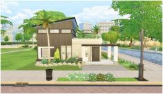 Via Sims: House 29 - Small House • Sims 4 Downloads
