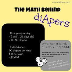 Math behind #Diapers by @Jenny #Parenting