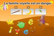 jeu planète des alphas la famille voyelle Core French, Classroom Games, Letter Sounds, Learn French, Phonics, Montessori, Childhood, Lettering, Learning