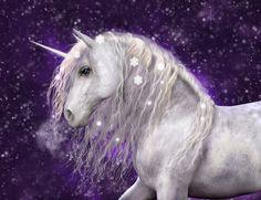 Magic world of unicorns – A beautiful white unicorn with silvery mane that has sparkling snow flakes in it. White Unicorn, Purple Unicorn, Rainbow Unicorn, Unicorn Drawing, Unicorn Art, Unicorn Horse, Unicorn Fantasy, Fantasy Art, No Panic