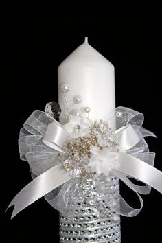 Christening Candle Ceremony Candle First Holy by CeremonyDeluxe