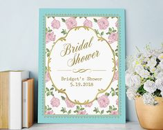 Dainty and delicate, the design on Kate Aspen's Personalized Tea Time Poster is just darling! Add your names and event date to celebrate your special occasion right.