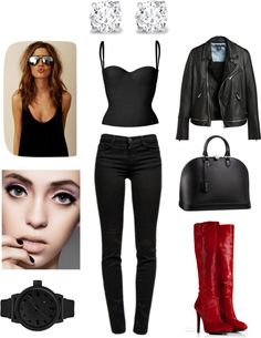 """""""Bad"""" by angelearanzenbach ❤ liked on Polyvore"""