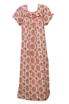 Women's Caftan Beige Red Tree Print Kaftan Cotton House D... https://www.amazon.com/dp/B01GUZOMKW/ref=cm_sw_r_pi_dp_MHYwxbEJEWBSF