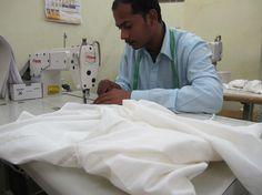 Stitching work at Mehera Shaw Ethical Fashion, Fair Trade, Print Design, Stitching, Artisan, Costura, Sustainable Fashion, Stitch, Craftsman