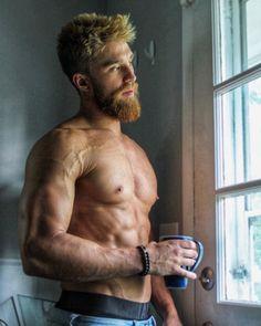Ellis Ginger Men, Ginger Beard, Men Coffee, Coffee Time, Morning Coffee, Gym Boy, Muscle, Bear Men, Big Guys
