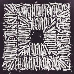 square calligraphy calligram by drobec drobny