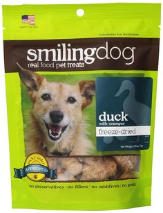 Herbsmith Smiling Dog Freeze Dried Duck with Orange Treats for Dogs and Cats 2.5-Ounce * Tried it! Love it! Click the image. : A - N - I - M - A - L - S ~~ PINS FRIENDS