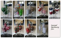 Apothecary jar fillers for all different seasons