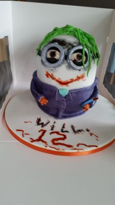 Image detail for Joker face birthday cakes wedding cake glasgow