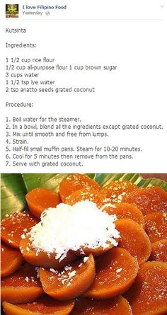 Kutsinta ~ Filipino Food - My WordPress Website Pinoy Dessert, Filipino Desserts, Asian Desserts, Filipino Recipes, Asian Recipes, Filipino Food, French Recipes, Chamorro Recipes, Comida Filipina