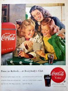Vintage Coca-Cola Coke Paper Popcorn Bag
