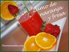 Suc de taronja i maduixes