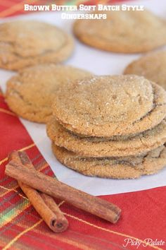 Brown Butter Soft Batch Style Gingersnaps, best cookie ever!  Perfect for your family and friends for the Holidays too!