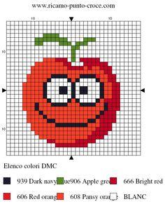 cuisine - kitchen - tomate - point de croix - cross stitch - Blog : http://broderiemimie44.canalblog.com/