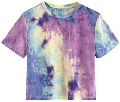 Bekleidung, Damen, Tops, T-Shirts & Blusen, Blusen & Tuniken Tie Dye Crop Top, Crop Tee, Tie Dye Supplies, Camisa Tie Dye, Tie Dye Fashion, Tie Dye Colors, How To Tie Dye, Shirt Bluse, Tie Dye Patterns