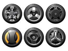 Segway Wheel Concept Sketches 타이어 바리에이션 참고