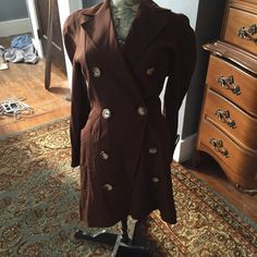 Vintage French coat Vintage French coat lots of detail tag say size 6 fits more like a 4 Vintage Jackets & Coats Trench Coats