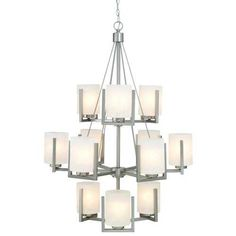 Buy the Dolan Designs Satin Nickel Direct. Shop for the Dolan Designs Satin Nickel 12 Light Up Lighting Chandelier from the Uptown Collection and save. Rectangle Chandelier, Sputnik Chandelier, Chandelier Shades, Chandelier Lighting, Large Chandeliers, Home Lighting, Lighting Design, Lighting Online, Lighting Ideas