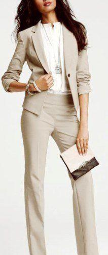 Beige women office suit with panties