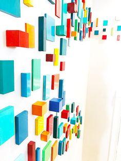 Modern Wall Art 3D Wall Sculpture Colorful Wall Art