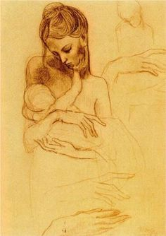 Mother and Child, Pablo Picasso.: