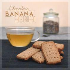 Chocolate banana shortbread #chocolate #banana #shortbread #cookies