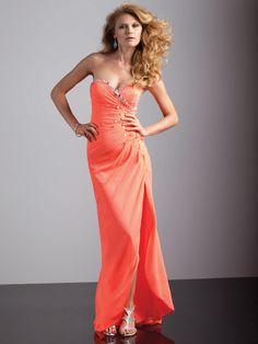 Sheath/Column Sweetheart Chiffon Asymmetrical Beading Prom Dresses at pickedlooks.com