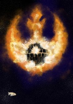 assorted-goodness:    Death Star Destruction - byWharton  Prints available at Society6
