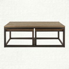 "Palmer Nesting coffee table (Arhaus; $1,399 on sale for $999; 53.5"" W X 30"" D X 19"" H)"