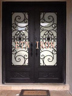 iron doors | house wrought iron front door ETN D085