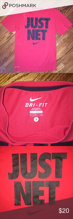 Men's Nike DRI-FIT t-shirt...Size S Like new condition men's Nike DRI-FIT t-shirt...red with graphics...no rips, stains or snags...from a smoke free home! Nike Shirts Tees - Short Sleeve