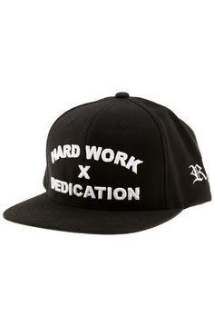 Hard Work X Dedication Snapback in Black