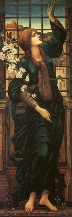 Hope by Edward Burne Jones - 1896 Very much like a John William Waterhouse painting! (I included Mr. Jones on here because although he was not an official member of the brotherhood, his art was strongly influenced by it! Dante Gabriel Rossetti, John William Waterhouse, William Morris, Pre Raphaelite Paintings, Kunsthistorisches Museum, Edward Burne Jones, Pre Raphaelite Brotherhood, Google Art Project, John Everett Millais