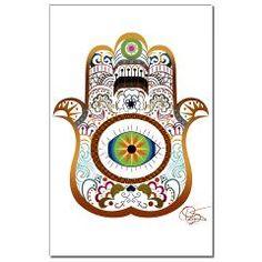 Hamsa/Copper Mini Poster Print  Relist Art  Relish Art design
