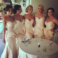 Cream bridesmaid dresses - My wedding ideas